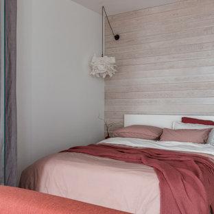 Свежая идея для дизайна: спальня в скандинавском стиле - отличное фото интерьера
