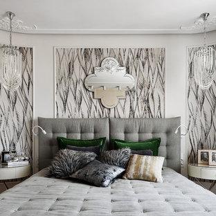 Неиссякаемый источник вдохновения для домашнего уюта: хозяйская спальня в современном стиле с белыми стенами