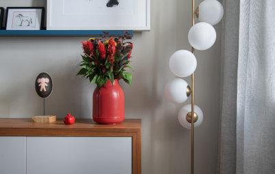 Houzz тур: Строгая квартира с ярким декором
