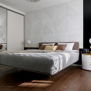 Стильная черно-белая квартира в Новосибирске