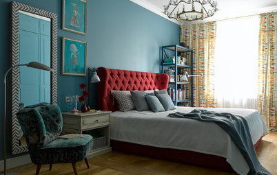 Houzz тур: Эксперименты с цветом, или яркая квартира без гостиной
