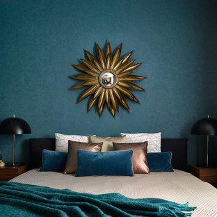 Foto de dormitorio contemporáneo de tamaño medio
