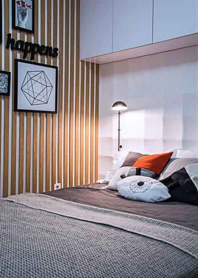 Современный Спальня by BohoStudio