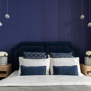 Идея дизайна: маленькая спальня в стиле современная классика