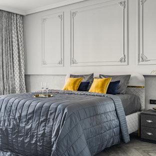 Стильный дизайн: большая хозяйская спальня в современном стиле - последний тренд