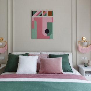 Свежая идея для дизайна: спальня в стиле современная классика - отличное фото интерьера