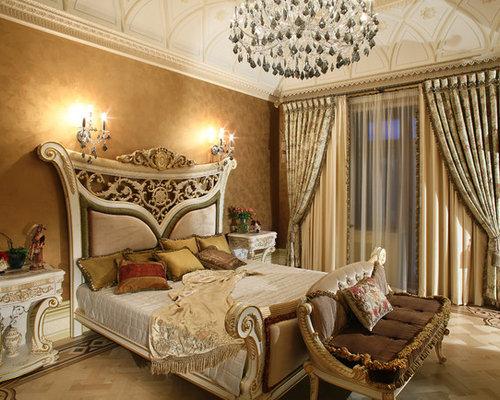 chambre victorienne avec un mur marron photos et id es d co de chambres. Black Bedroom Furniture Sets. Home Design Ideas