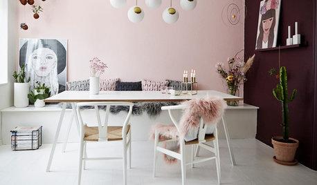 Houzz Дания: Скандинавский стиль сквозь розовые очки