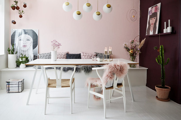 Scandinavian Dining Room Houzz Tours Krea-Pernille