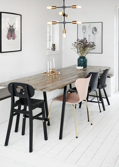 Scandinavian Dining Room by Mia Mortensen Photography