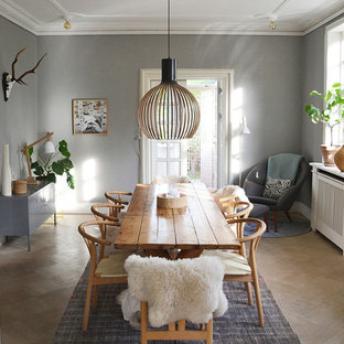 Charming Example Of A Large Danish Medium Tone Wood Floor Enclosed Dining Room  Design In Copenhagen With