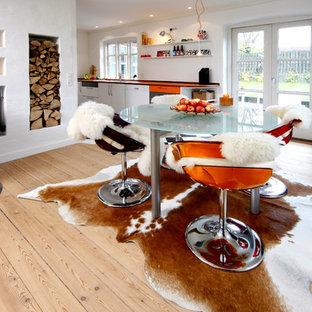 Arredamento Con Parquet Chiaro.Sala Da Pranzo Con Parquet Chiaro Aarhus Foto Idee Arredamento