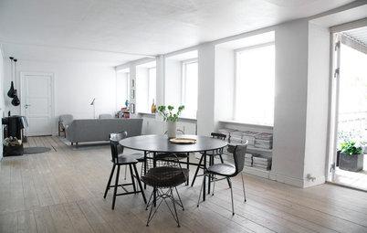 Houzz Tour: Charmigt skev 300 år gammal lägenhet i Köpenhamn