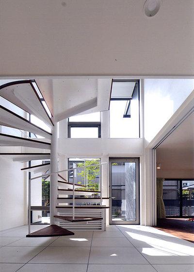 コンテンポラリー 階段 by 川口建築設計工房
