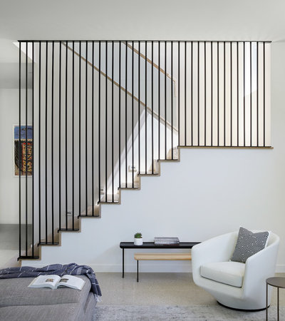 Contemporary Staircase by Dick Clark + Associates