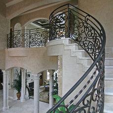 Mediterranean Staircase by HAJEK & Associates, Inc.