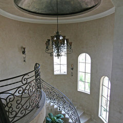 mediterranean staircase by HAJEK & Associates, Inc.
