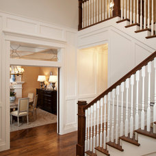 Traditional Staircase by Magleby Construction