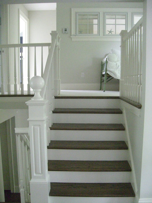 Painted And Stained Stair Home Design Ideas Pictures Remodel And
