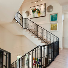 Transitional Staircase by Kukk Architecture & Design P.A.