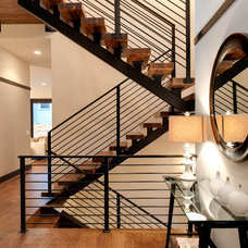 Contemporary Staircase by Kapsner Homes LLC