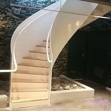 12th Avenue Contemporary Spiral Staircase