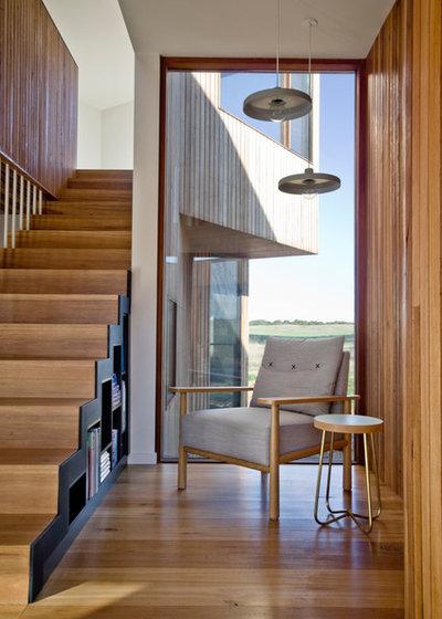 コンテンポラリー 階段 by Auhaus Architecture