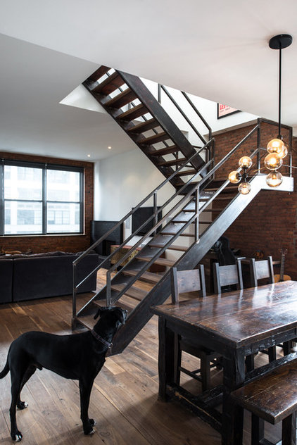 Industrial Staircase by Jane Kim Design