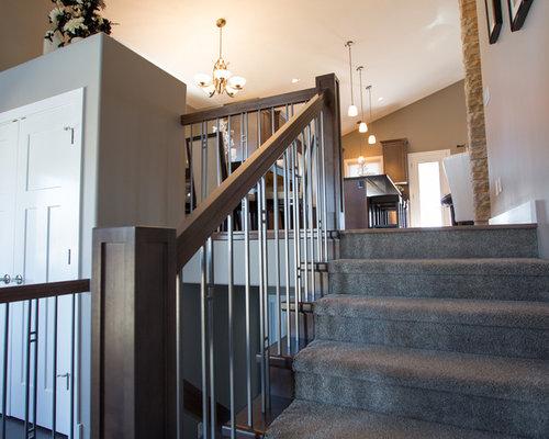 treppen mit beton setzstufen und teppich treppenstufen ideen f r treppenaufgang treppenhaus. Black Bedroom Furniture Sets. Home Design Ideas