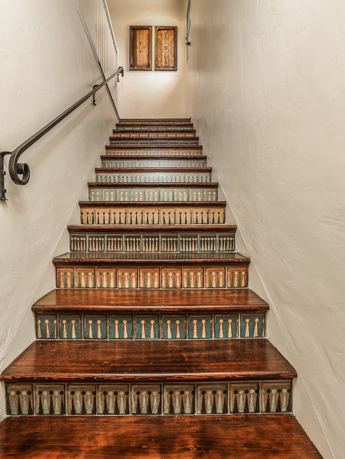 Stenciled Stair Risers Houzz