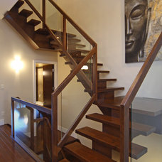 Eclectic Staircase by A Collaborative Design Group