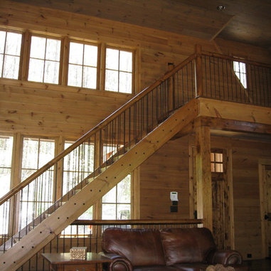 Rustic wood railing home design ideas pictures remodel and decor
