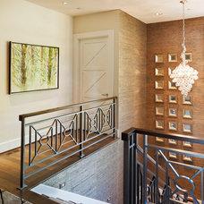 Contemporary Staircase by Stoneridge Custom Development