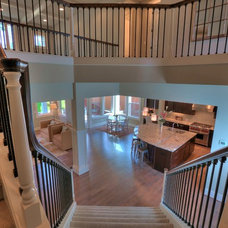 Traditional Staircase by JayMarc Homes