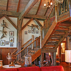 Rustic Staircase by Appalachian Antique Hardwoods