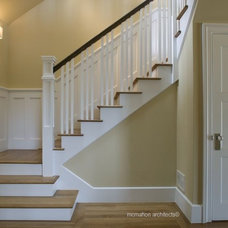 Traditional Staircase by McMahon Architects+Studio