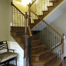 Traditional Staircase by JB Architecture Group, Inc.