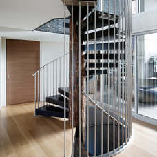 Contemporary Staircase by Blank and Cables