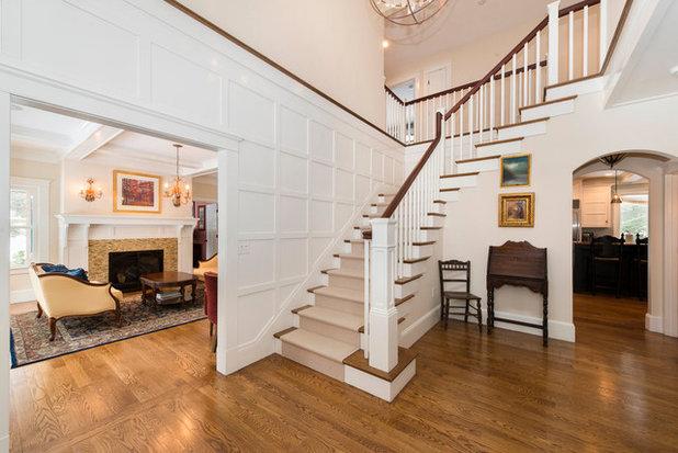Traditional Staircase by Amy Mizner, Benoit Mizner Simon & Co.