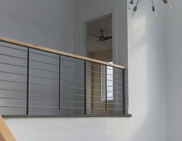 20_Minimalist Stair System in Modern Home, Fairfax, Virginia 22030