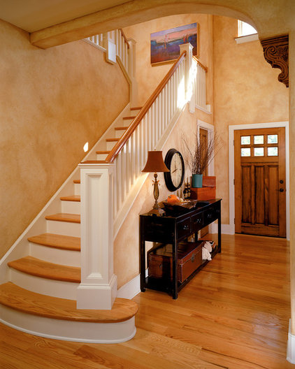 Traditional Staircase by Witt Construction