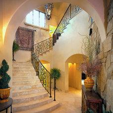 Mediterranean Staircase by Joseph Volpe, Designer