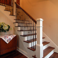 Traditional Staircase by Kaufman Construction Design and Build