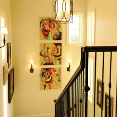 traditional staircase by Castle Homes