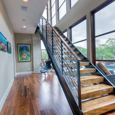 Contemporary Staircase by Adam Wilson Custom Homes