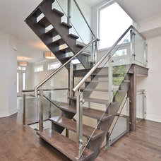 Modern Staircase by Masterplan Residential Drafting and Design