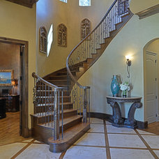 Traditional Staircase by Larry Stewart Custom Homes