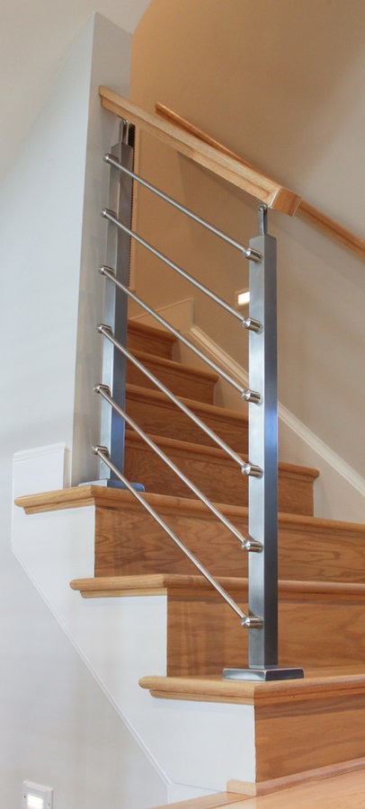 Modern Staircase to Private Rooftop, Arlington VA 22209