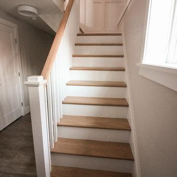 29_Beautiful Oak & White Staircase in Inviting and Quaint Home, Arlington VA 222