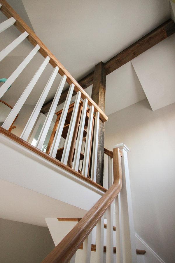 Elegant Oak & White Staircase in Inviting and Quaint Home, Arlington VA 22201